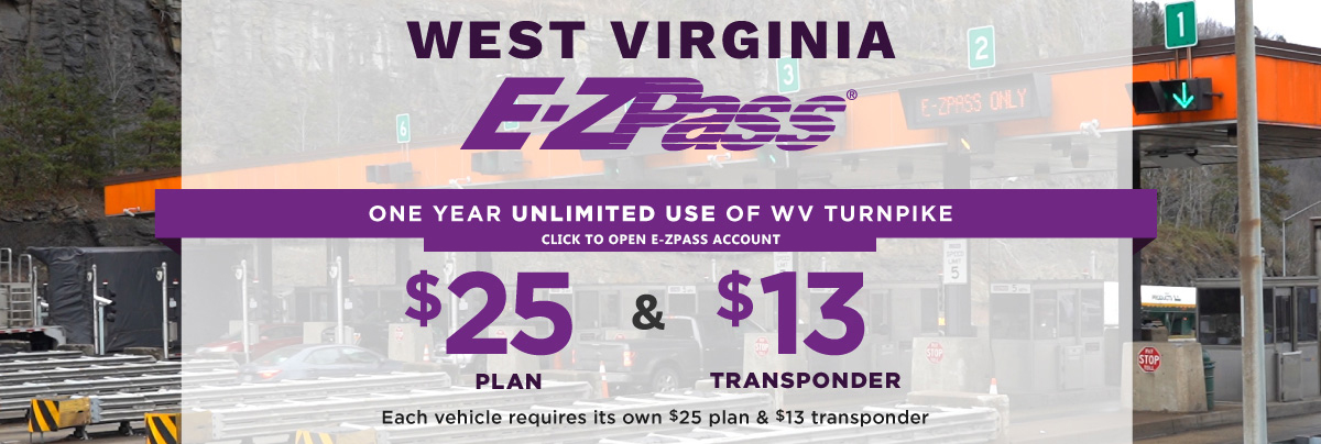 One year unlimited use of WV Turnpike